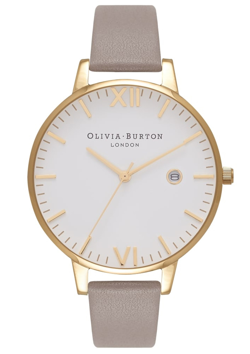 Olivia Burton Timeless White Face Watch - London Grey & Gold main image