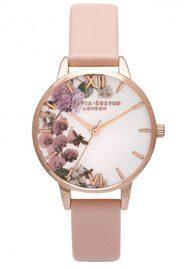Olivia Burton Enchanted Garden Midi Watch - Dusty Pink & Rose Gold
