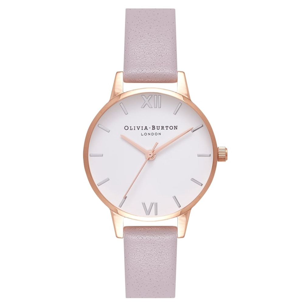 Midi Dial White Dial Watch - Grey Lilac, Silver & Rose Gold