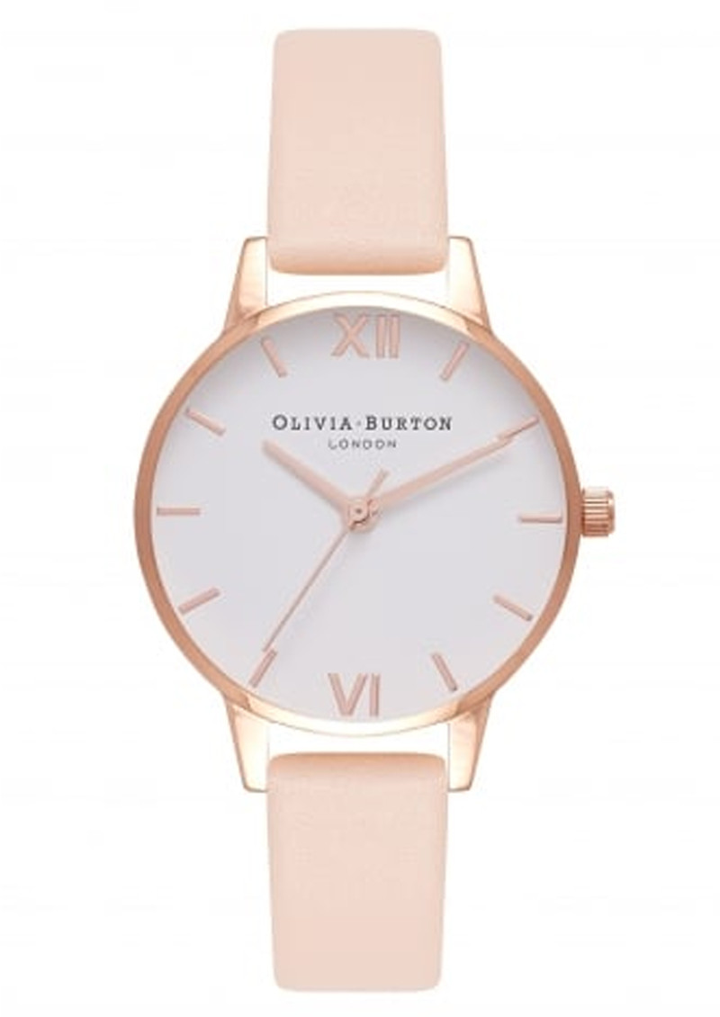 Midi Dial White Dial Watch - Nude Peach & Rose Gold main image