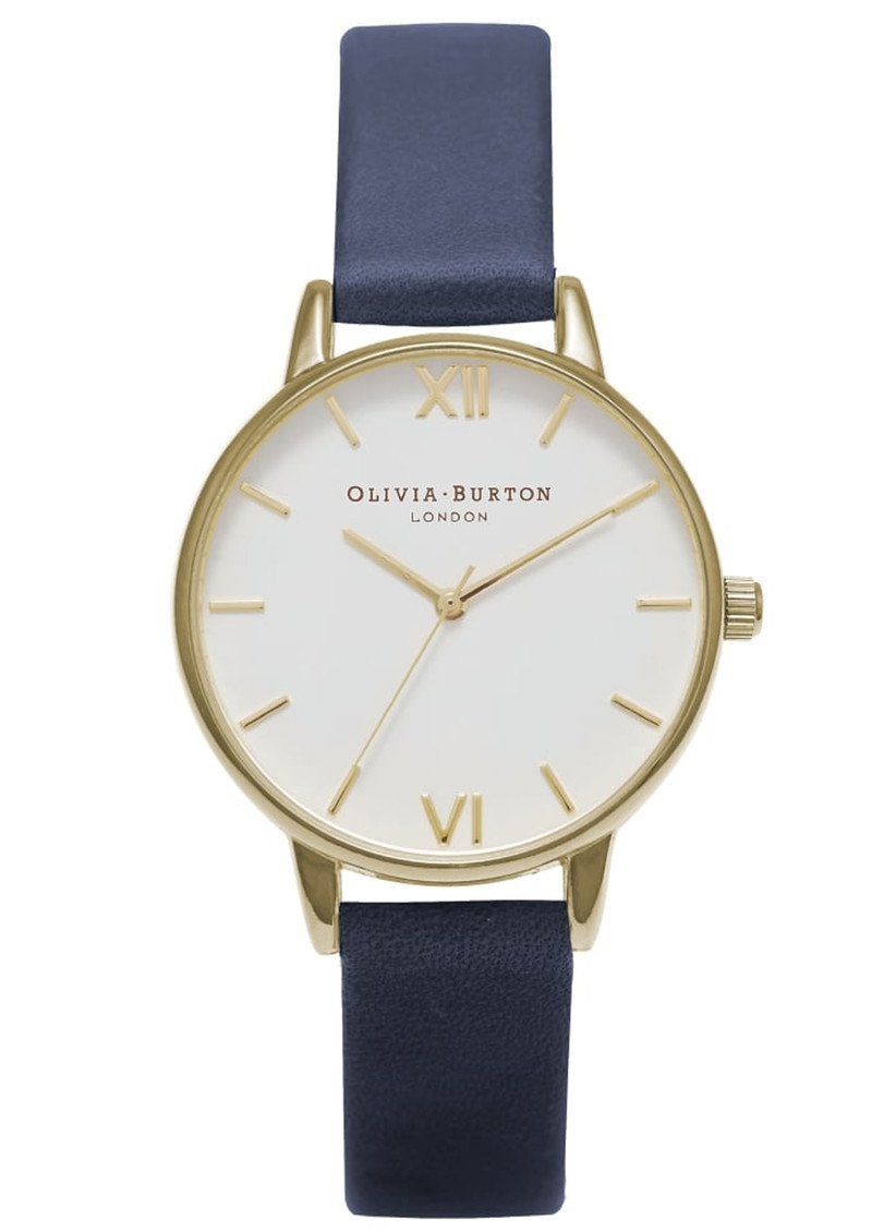 Midi Dial White Dial Watch - Navy & Gold main image