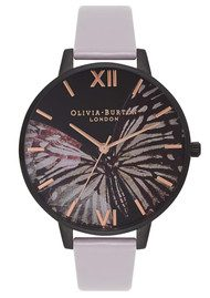 Olivia Burton After Dark Butterfly Watch - Grey Lilac & IP Black