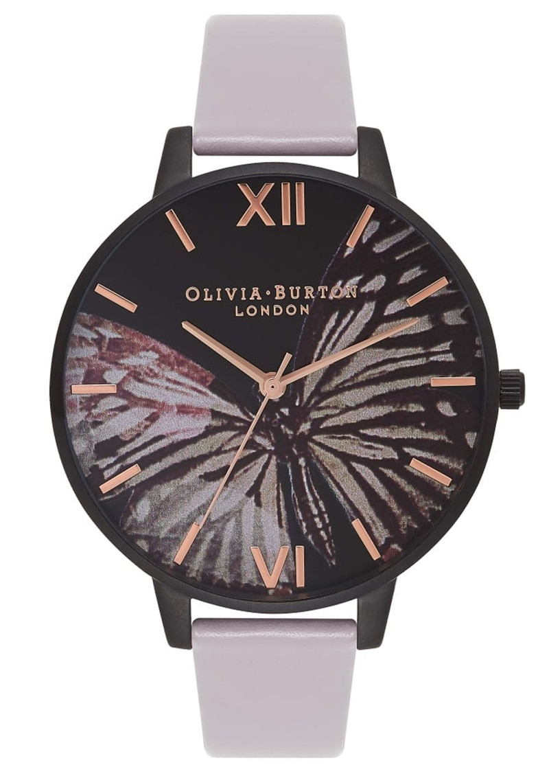 Olivia Burton After Dark Butterfly Watch - Grey Lilac & IP Black main image