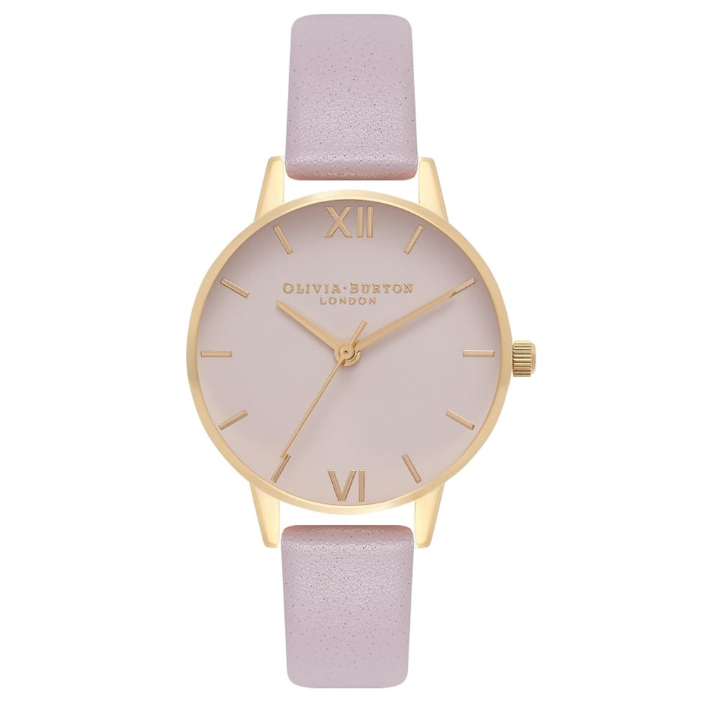 Midi Dial Blush Dial Watch - Grey Lilac & Gold