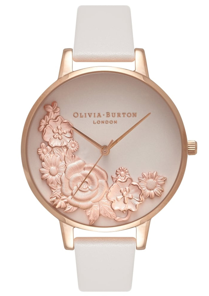 Olivia Burton Moulded Floral Bouquet Watch - Blush & Rose Gold main image