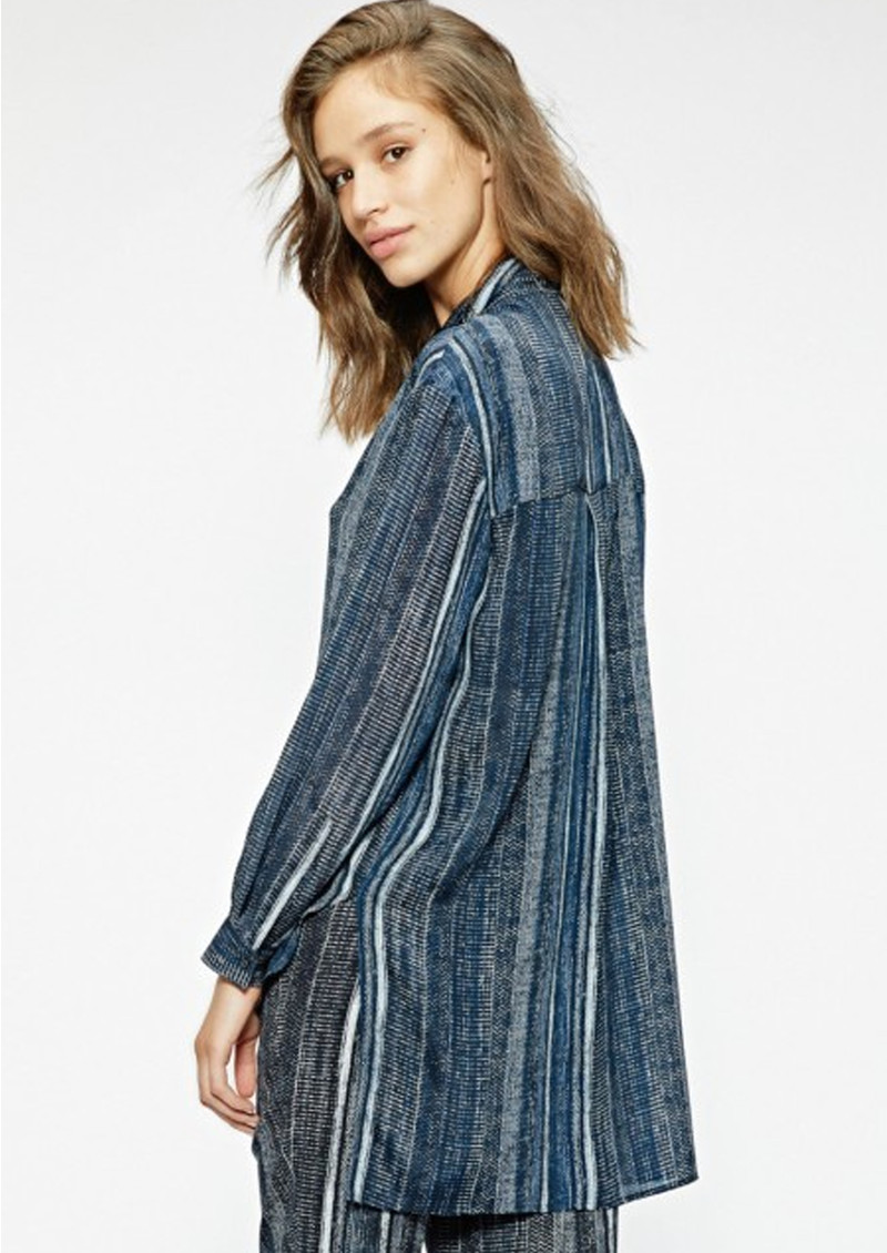 SACKS Bailey Silk Printed Shirt - Stripes main image