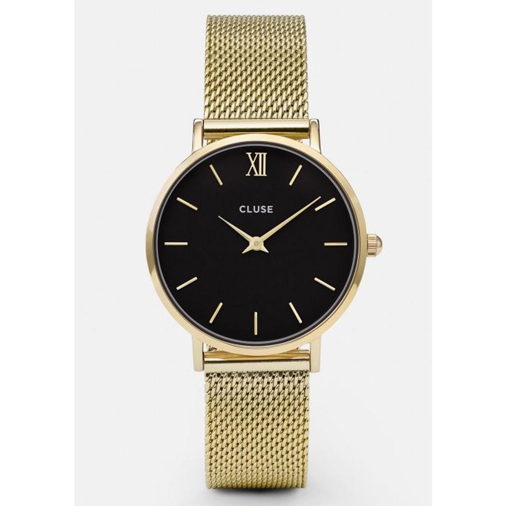 Minuit Mesh Watch - Gold & Black