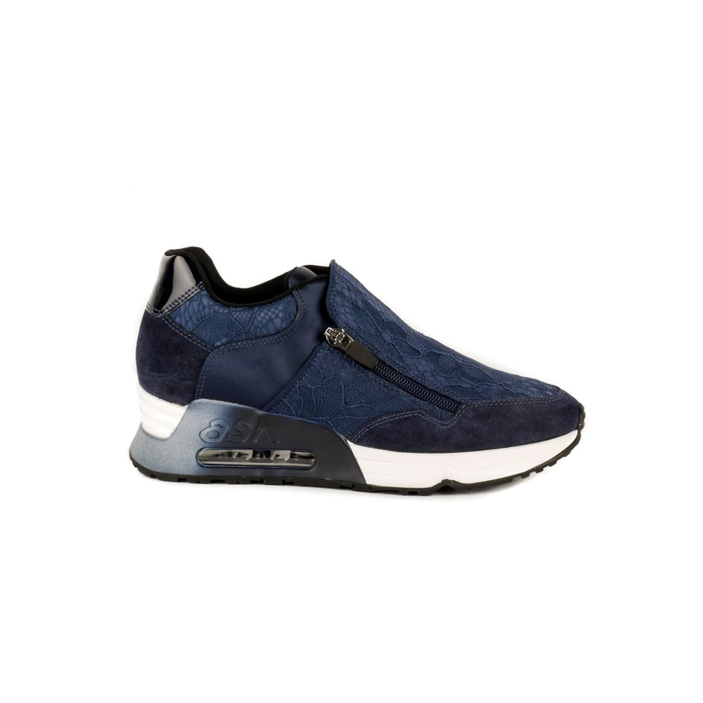 Look Lace Trainers - Navy