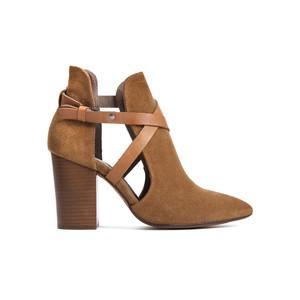 Geneve Suede Ankle Boot - Cognac