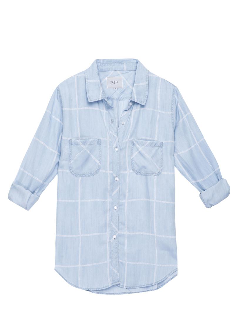 Rails Carter Shirt - Watercolour Grid main image
