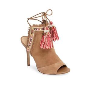 Artie 2 Heel - Caramel & Pink