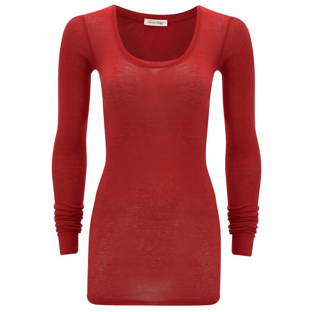 Massachusetts Long Sleeve T-Shirt - Strawberry