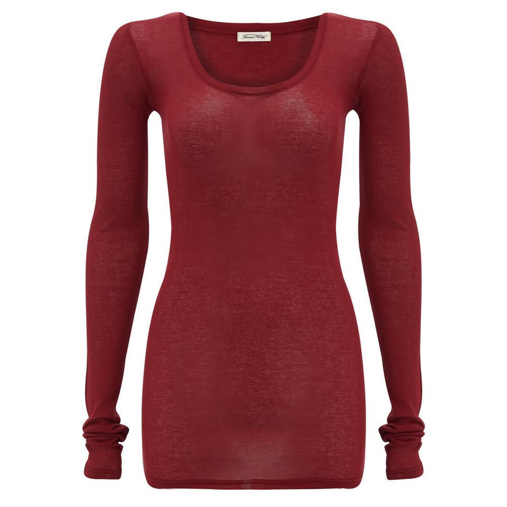 Massachusetts Long Sleeve T-Shirt - Cherry