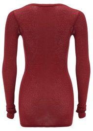 American Vintage Massachusetts Long Sleeve T-Shirt - Cherry