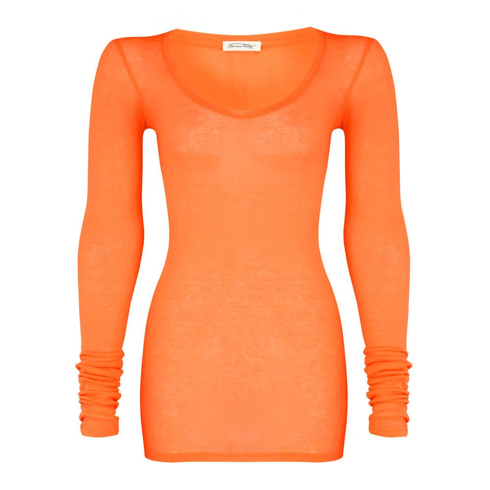 Massachusetts Long Sleeve T-Shirt - Orangeade