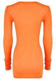 American Vintage Massachusetts Long Sleeve T-Shirt - Orangeade