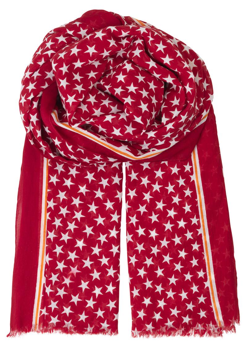 Becksondergaard Etoiles Cotton Star Scarf - Scarlet Sage main image