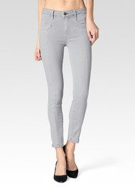 Paige Denim Roxxi Ankle With Seaming Jeans - French Grey