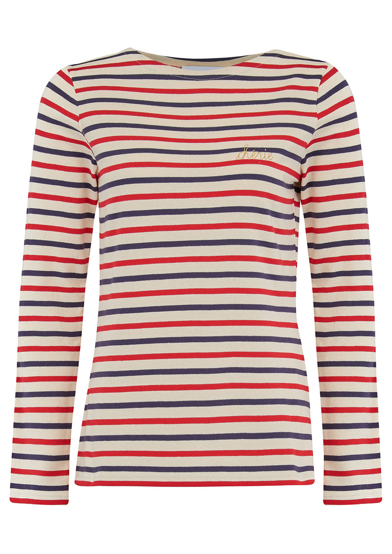 MAISON LABICHE Cherie Long Sleeve Top - Multi main image