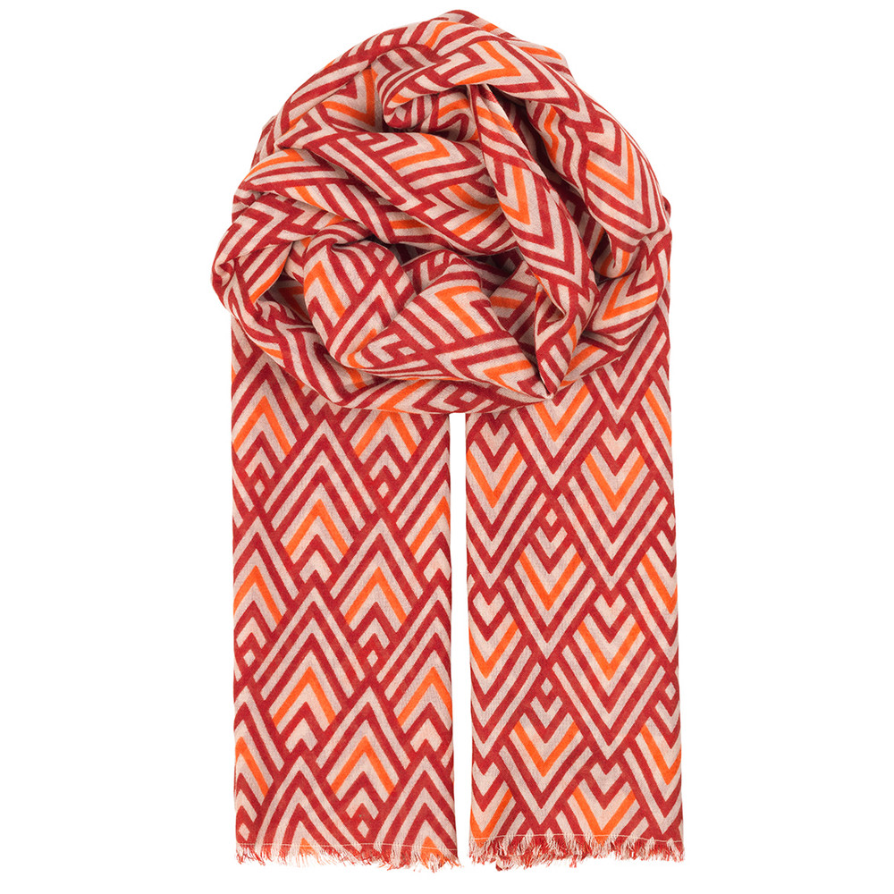 Pompe Scarf - Brick Red