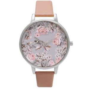 Enchanted Garden Watch - Dusty Pink & Silver
