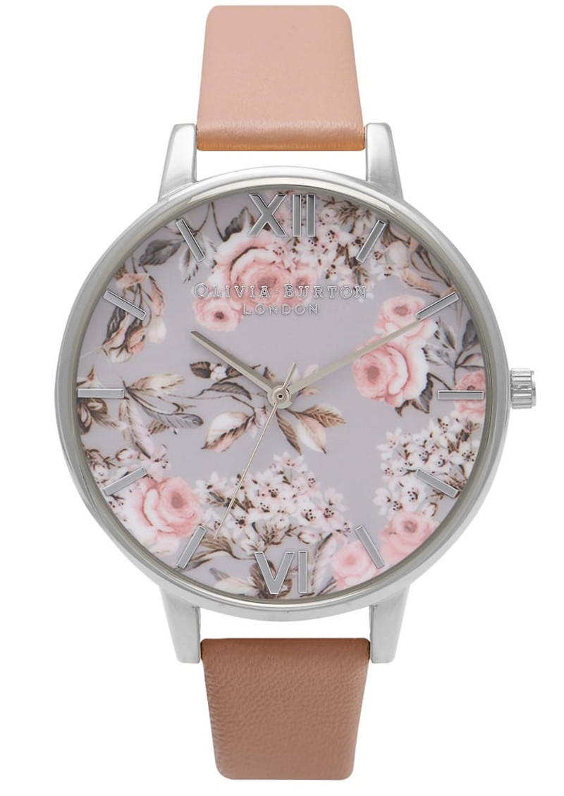 Enchanted Garden Watch - Dusty Pink & Silver main image