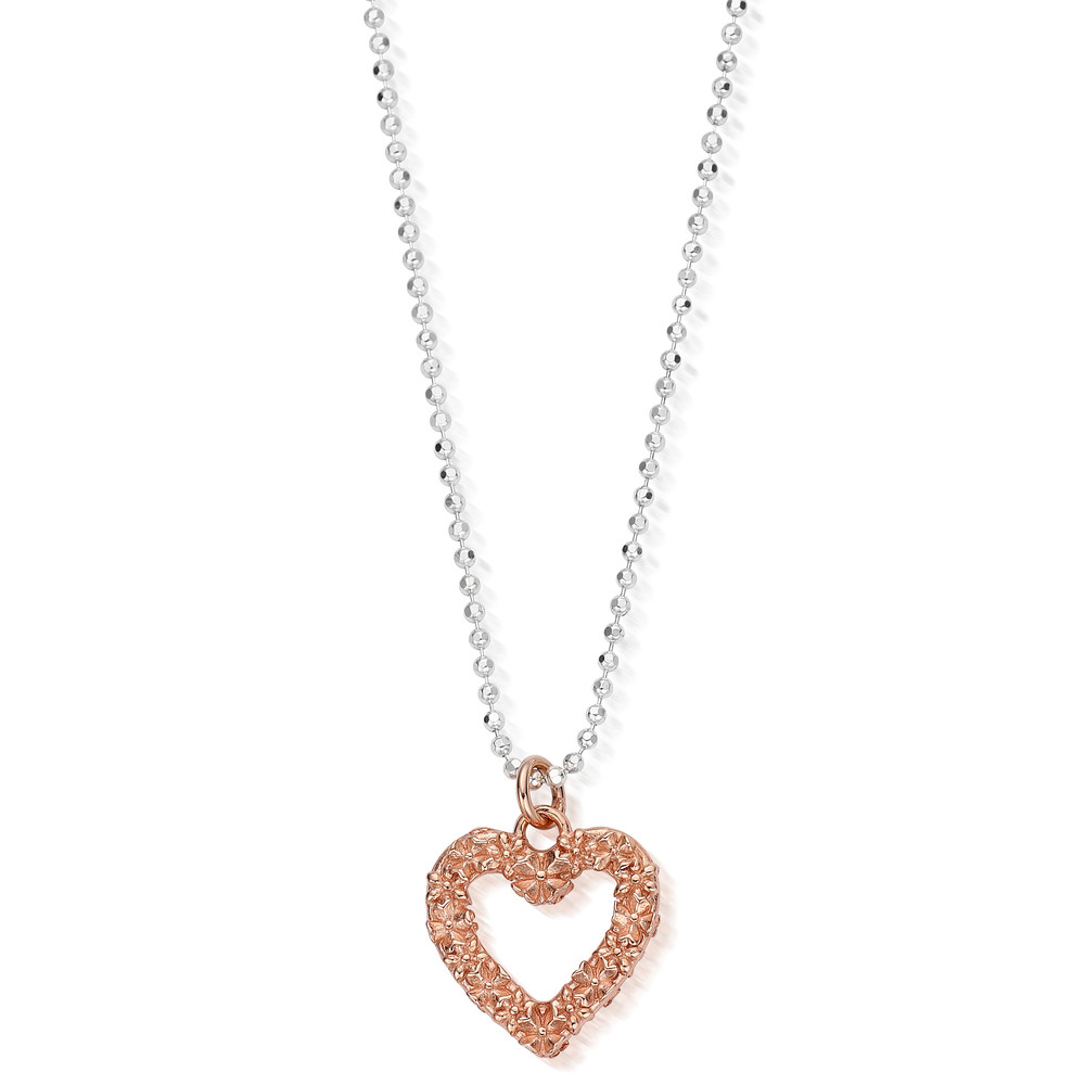 Love You More Necklace - Silver & Rose Gold