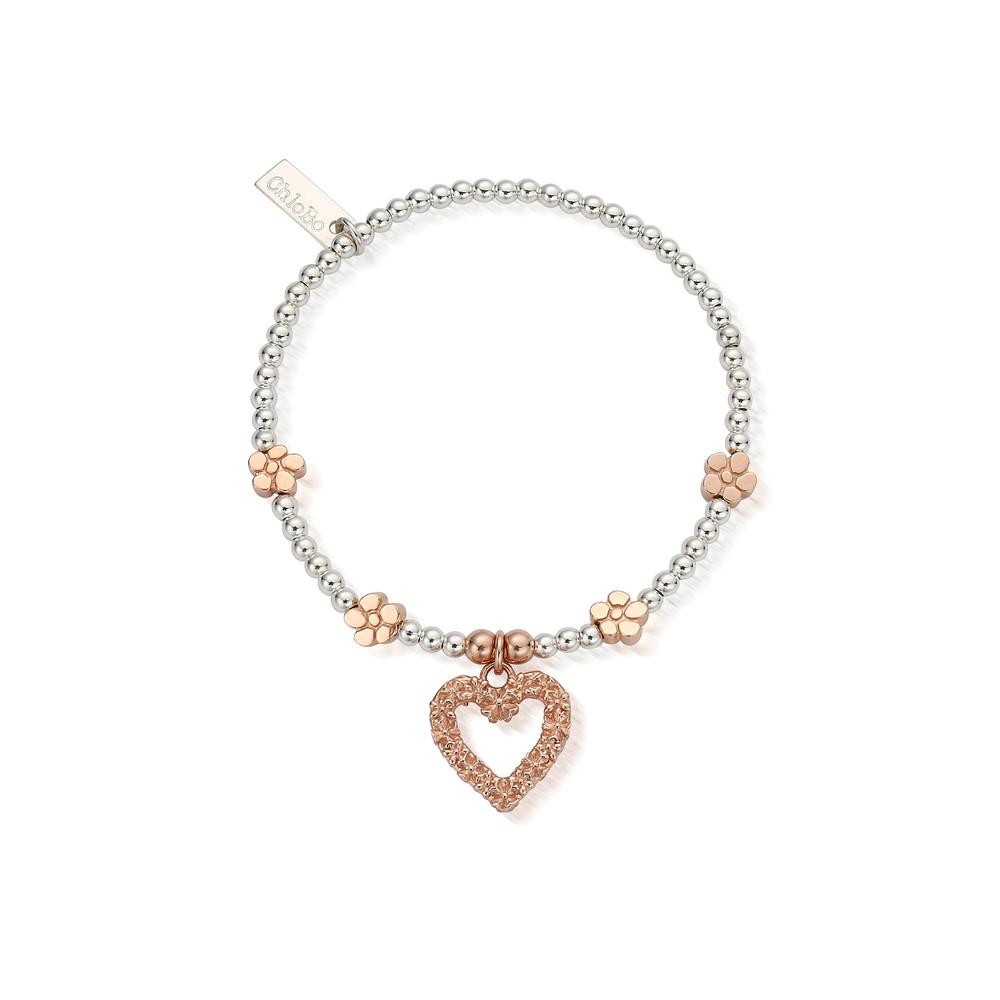 Love You More Bracelet - Silver & Rose Gold