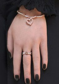 ChloBo Love You More Bracelet - Silver & Rose Gold