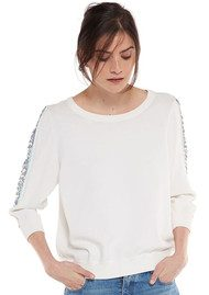 Essentiel Nosom Sequinned Sweater - Off White