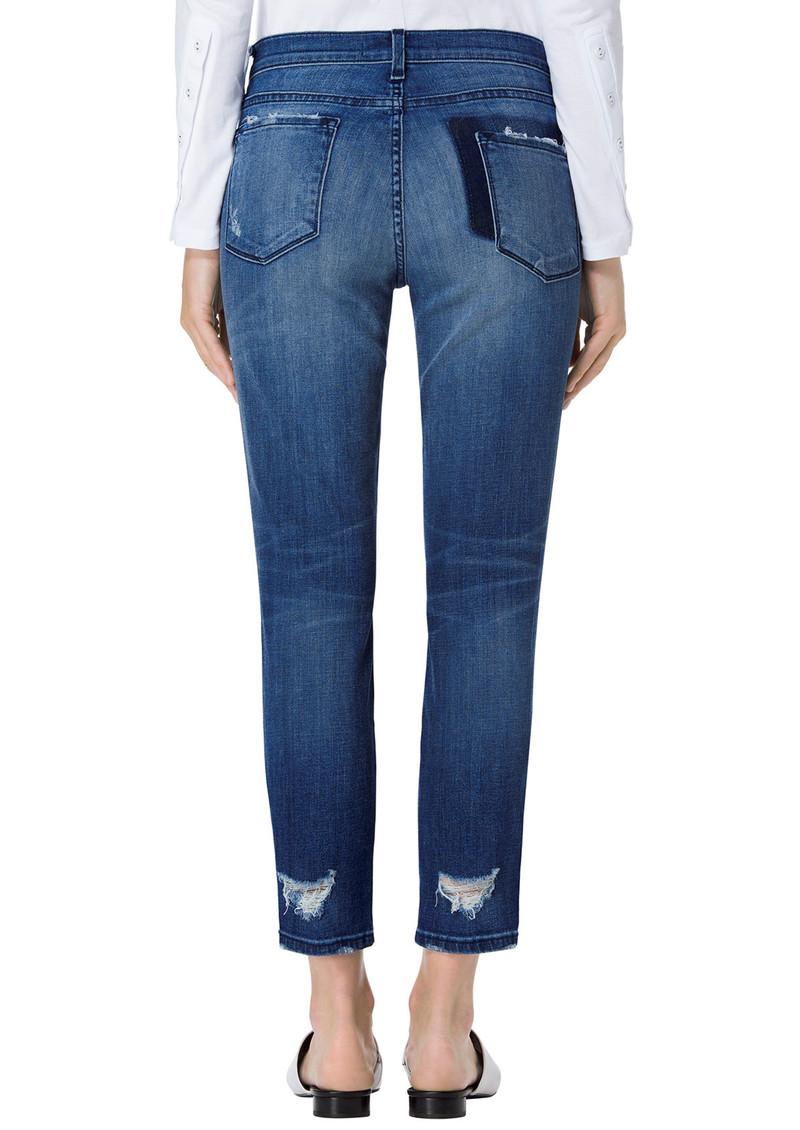 J Brand Sadey Mid Rise Slim Straight Jeans - Gone main image