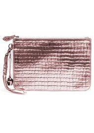 BELL & FOX Wristlet Clutch - Rose Gold Croc