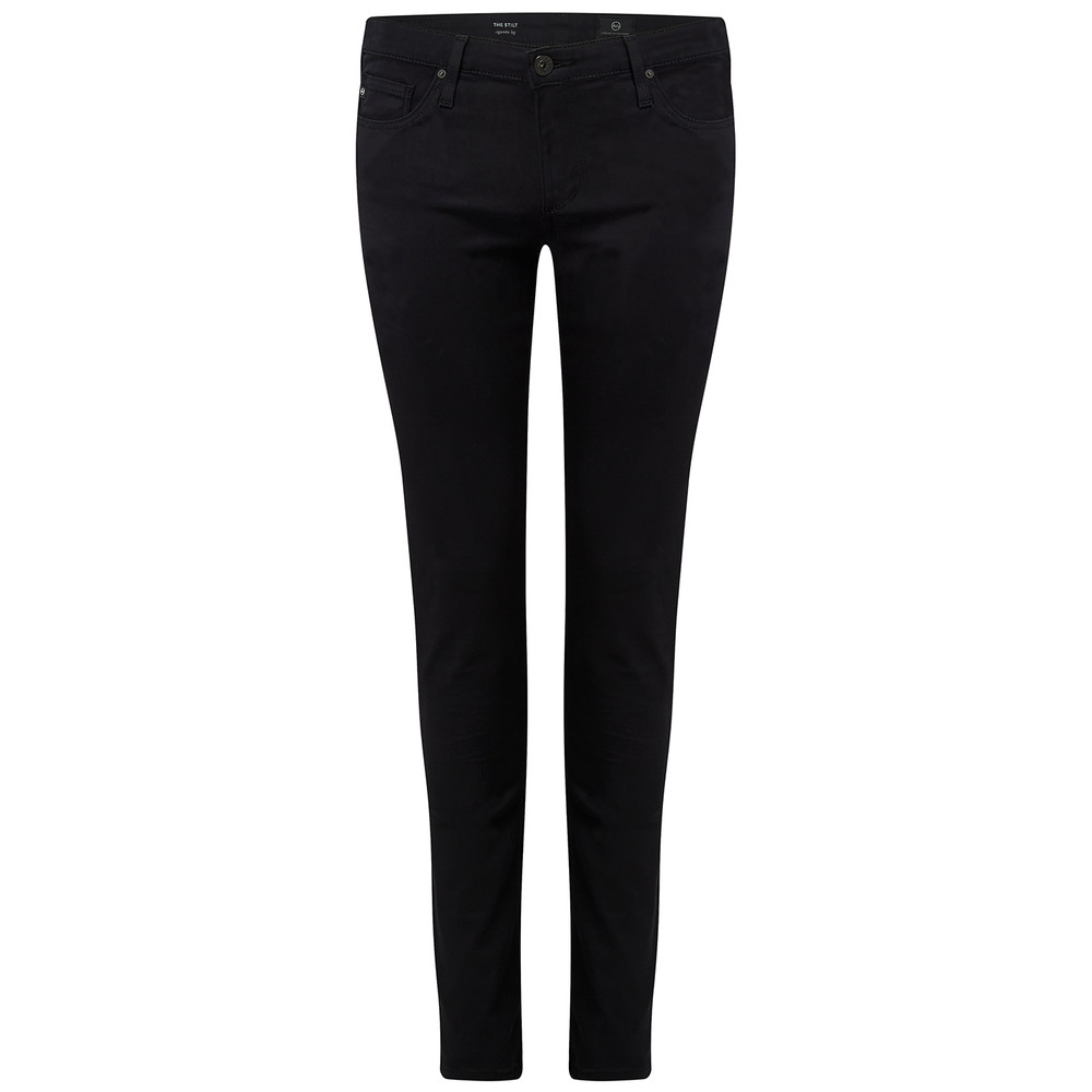 The Stilt Cigarette Sateen Jeans - Black