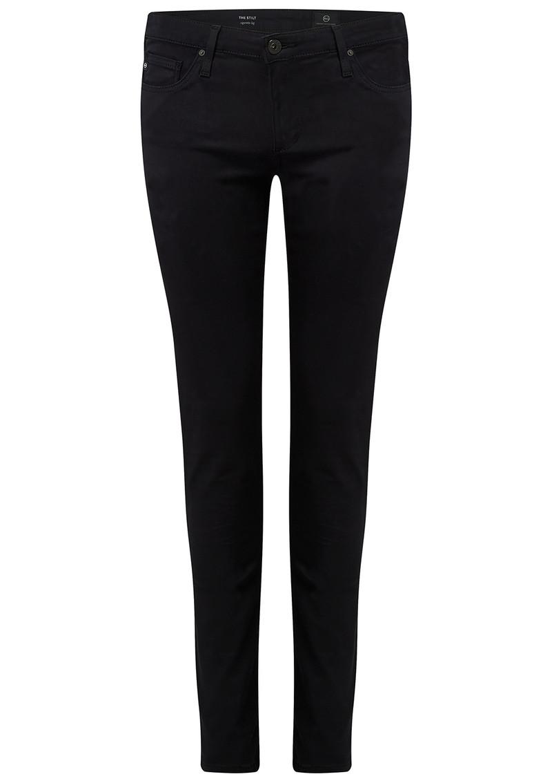 AG JEANS The Stilt Cigarette Sateen Jeans - Black main image