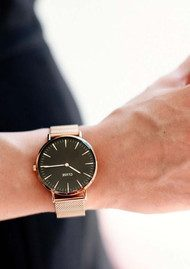 CLUSE La Boheme Mesh Watch - Rose Gold & Black