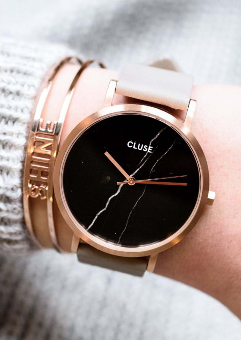 CLUSE La Roche Rose Gold Watch - Black & Grey main image