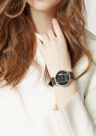 CLUSE La Roche Marble Watch - Black & Gold