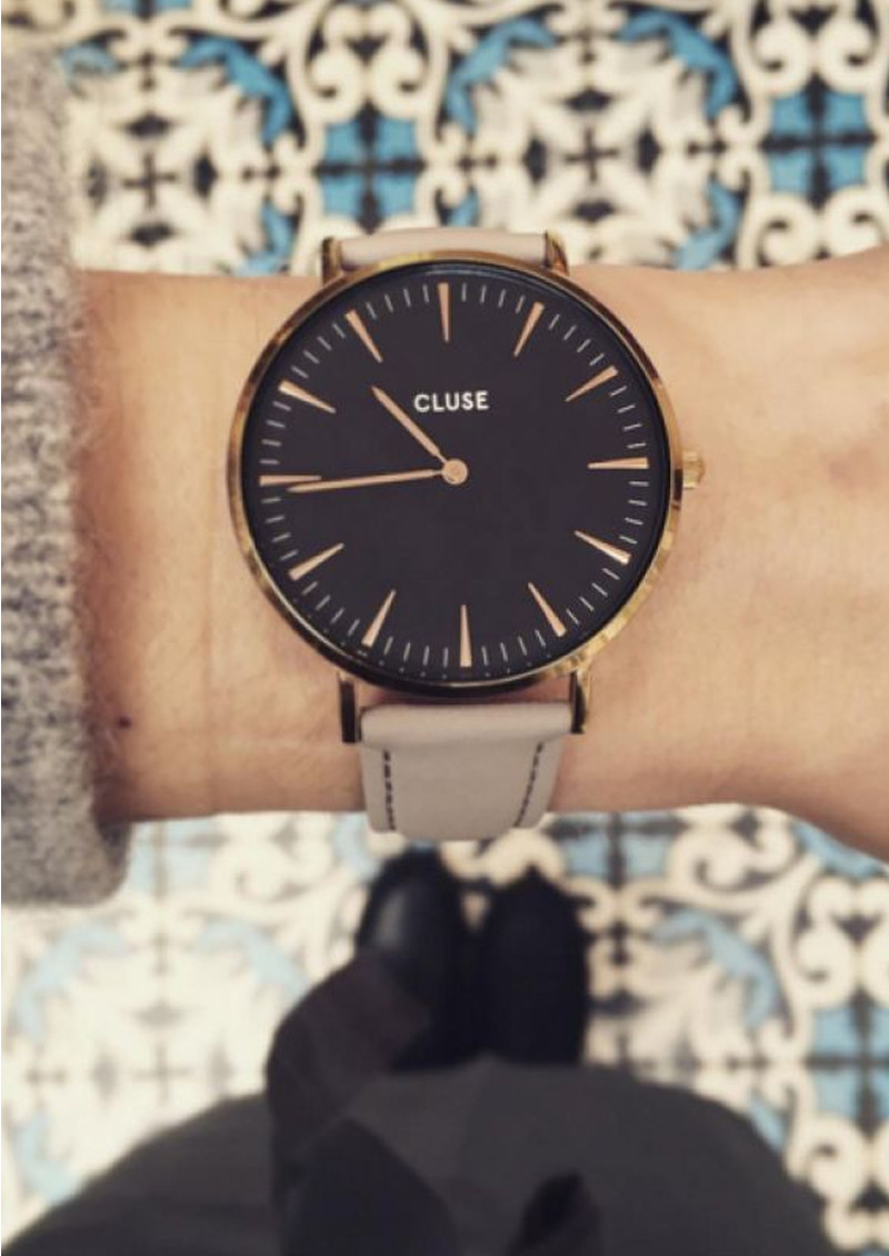 CLUSE La Boheme Gold Watch - Black & Grey main image