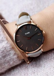 CLUSE Minuit Rose Gold Watch - Black & Grey