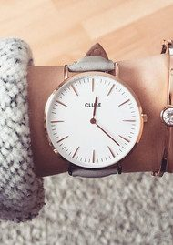 CLUSE La Boheme Rose Gold Watch - White & Grey