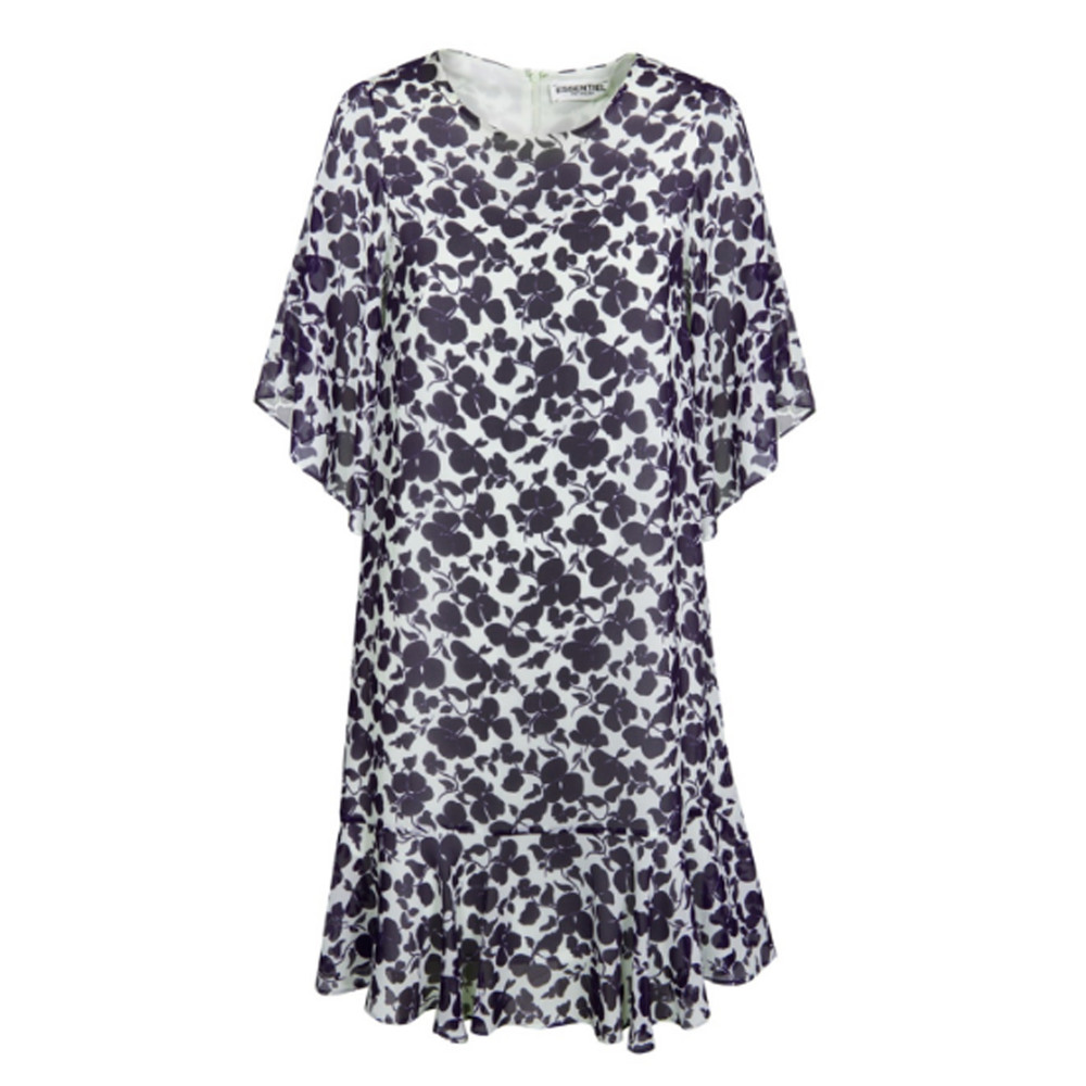 Nasir Floral Dress - Atlantic Deep