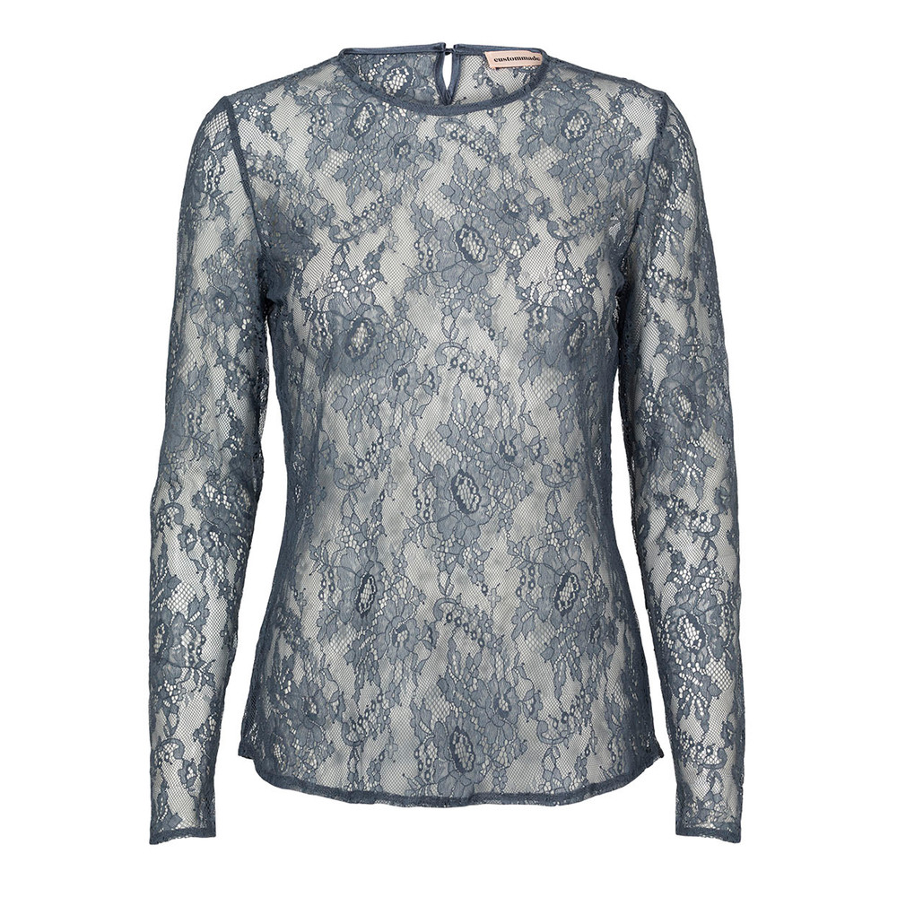 Izabel Lace Top - Grisaille Blue