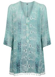 Mercy Delta Lampton Cover Up Top - Python Ombre Sea Breeze