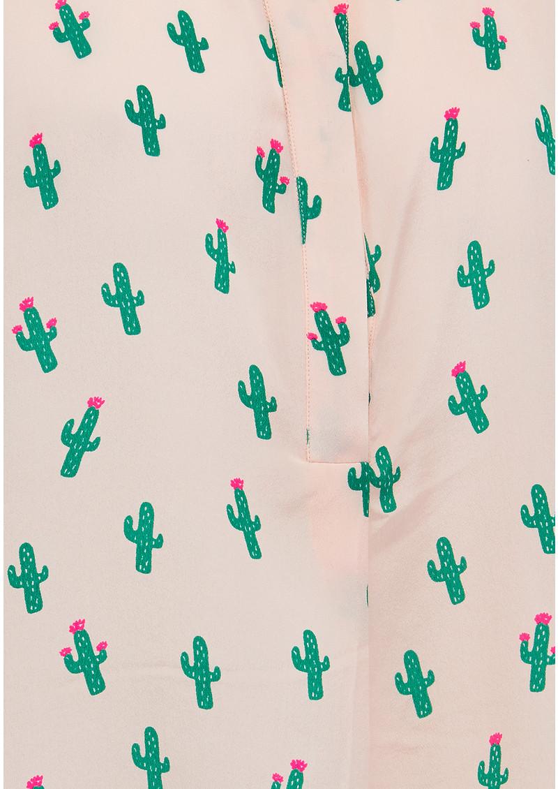 Mercy Delta Hampton Sleeveless Pom Pom Top - Cactus & Beach Babe main image