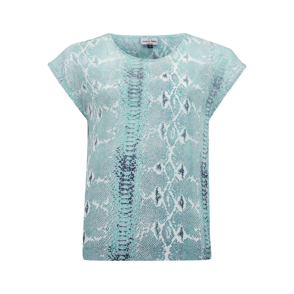 Blair Python Top - Sea Breeze