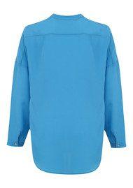 SACKS Placket Silk Shirt - Vintage Blue