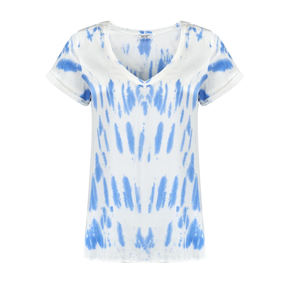 Tie Dye Silk Top - Blue