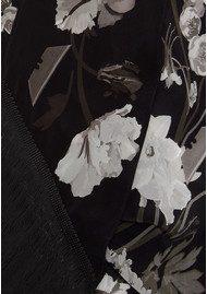 ROCKINS Flora Classic Skinny Fringed Scarf - Monochrome