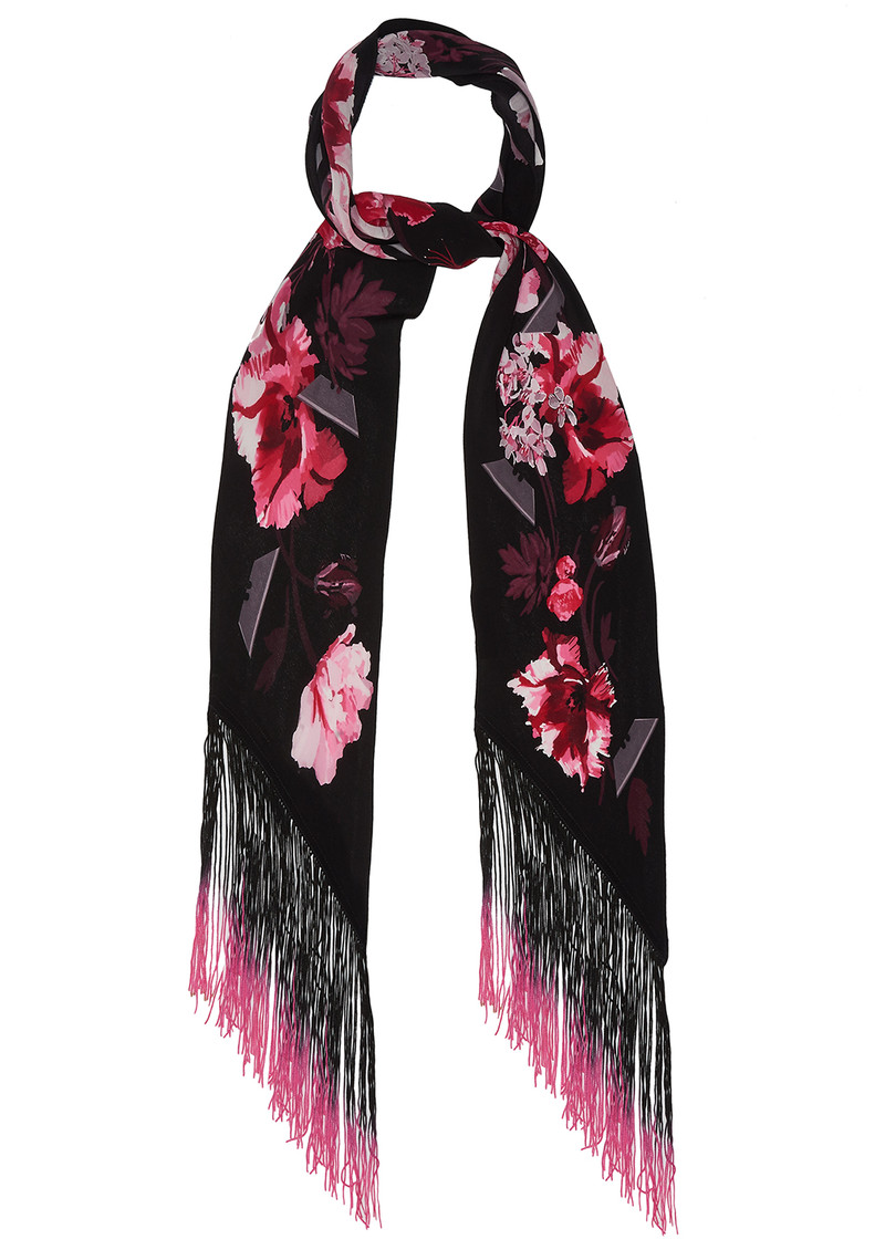 ROCKINS Flora Classic Skinny Fringed Scarf - Pink main image