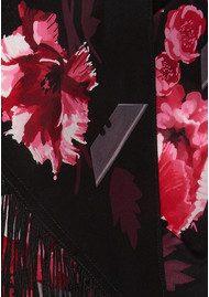 ROCKINS Flora Classic Skinny Fringed Scarf - Pink